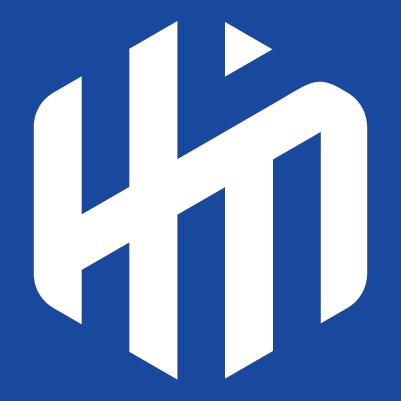 Logo white on blue